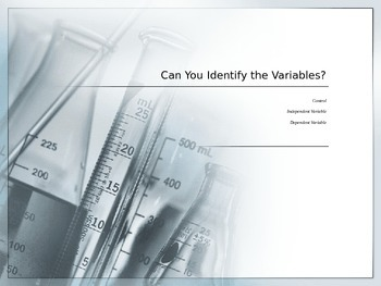 Can You Identify Variables