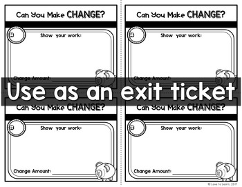 Can You Make Change? Task Cards for Money Math Skills