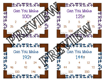 Can You Make It? Number Puzzles