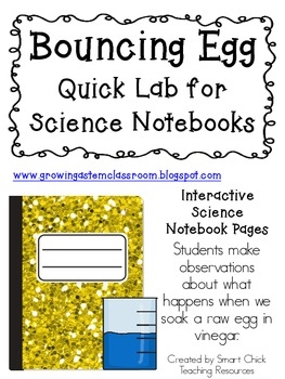 Can You Make an Egg Bounce? ~ Quick Lab Pack for Interactive Science Notebooks