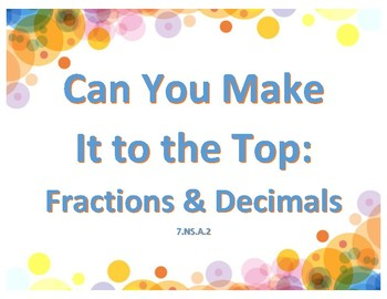 Can You Make it to the Top: Equivalent Fractions & Decimals