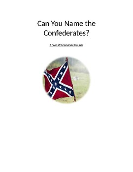 Can You Name the Confederates?