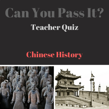 Can You Pass It: Chinese History