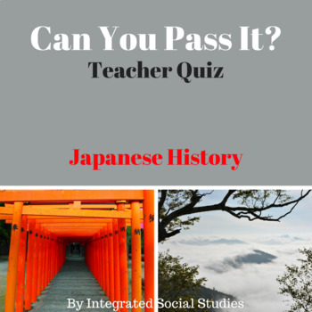 Can You Pass It? Japanese History