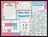 Can You Read It? Word Game Reading Center Activity