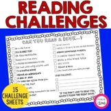 Reading Challenges - Independent Reading Activities