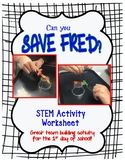 Can You Save Fred?  Pipe cleaner Challenge, Army Catapult STEM activities bundle