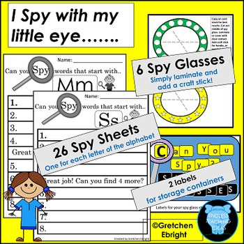 Can You Spy....Letters?: Spy Glasses Included!