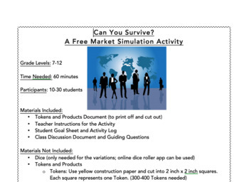 Can You Survive? Free Market Economic Simulation Activity!  Make Economics FUN!