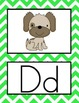 Can You Zig It Chevron Alphabet Line and Word Wall Set