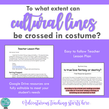 Can cultural lines be crossed in costume? {An Inquiry-Based Synthesis Essay}