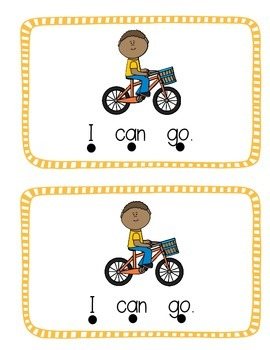 """Emergent Sight Word Reader """"Can go"""""""