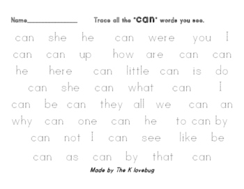 Can sight word