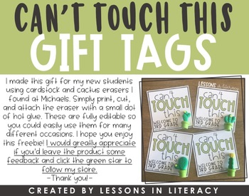 Can't Touch This Gift Tags {FREEBIE}