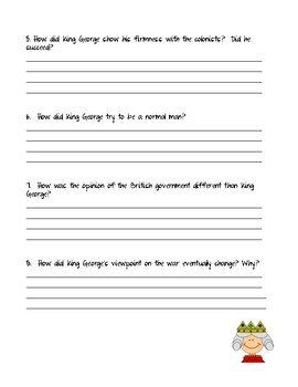 Can't You Make Them Behave King George - Journeys Unit 3 Lesson 12 Comprehension