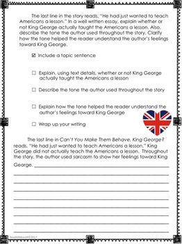 Can't You Make Them Behave, King George?-- Journeys Grade 5-Lesson 12