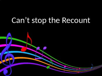 Can't stop the recount