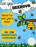 Can you Beelieve it? Advice for next year's class! (Google