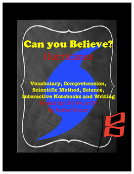 Can you Believe? Hurricanes - Vocabulary, Interactive Note