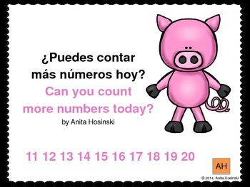 bilingual spanish book counting numbers 11-20