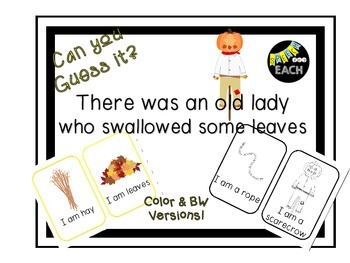 Can you Guess it? There was an old lady who swallowed some leaves Companion
