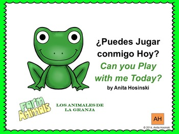 bilingual spanish book animals and adjectives