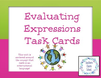 Evaluating Expressions Task Cards
