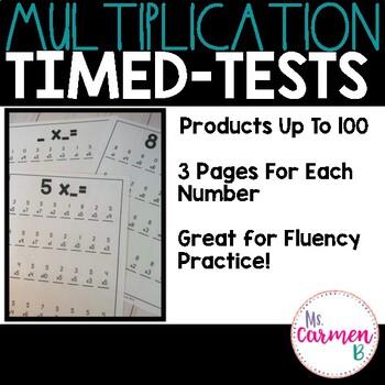 Mulitplication Timed Tests