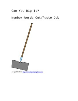 Can you dig it? Number Words Cut/Paste