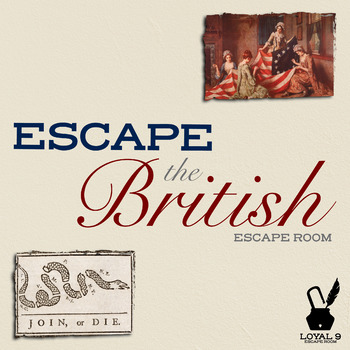 Can you escape the British?  American Revolution Spy Escape Room Activity