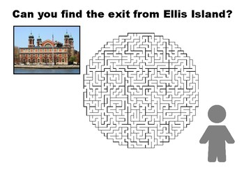 Can you find the exit from Ellis Island maze puzzle