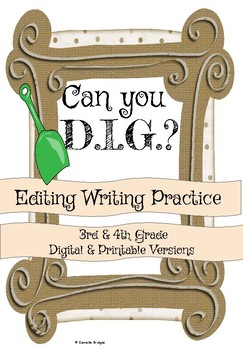 Can you fix my D.I.G? Editing Writing Practice Digital and