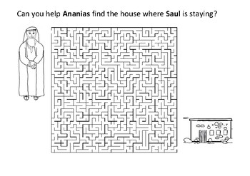 Can you help Ananias find the house where Saul is staying?