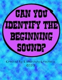 Can you identify the beginning sound?