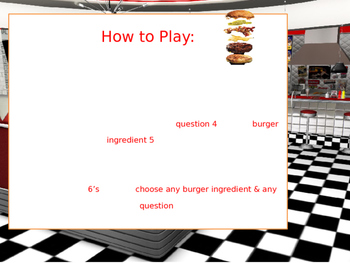Can you make a burger? ESL Speaking Game