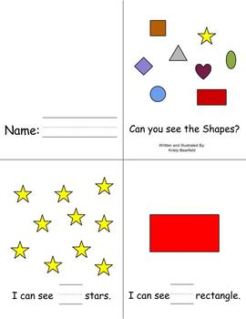 Emergent Reader {Can you see the Shapes?}