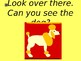 Can you see the animals? Ebook reader with sound