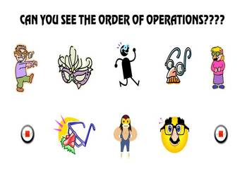 Can you see the order of operations? smartboard game