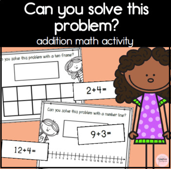 Can you solve this? Ten Frame & Number Line Work Mats for addition math problems