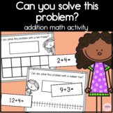 Can you solve this? Ten Frame and Number Line Work Mats for Addition