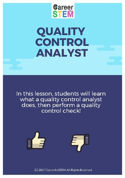 Can you spot the bad apple? Quality Control Analyst Lesson Plan & Activity