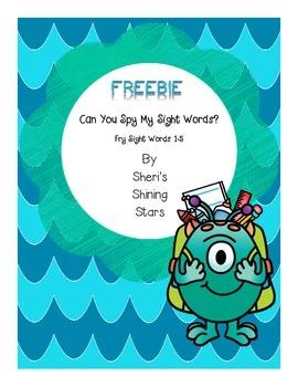 Can you spy my sight words? Freebie
