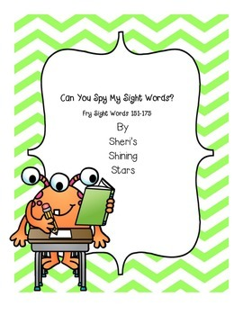 Can you spy my sight words? Fry Sight Words 151-175