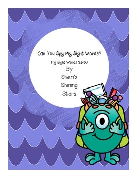 Can you spy my sight words? Fry Sight Words 26-50