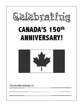 Canada 150 Booklet for Early Years