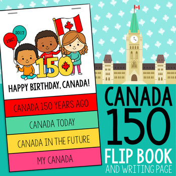 Canada 150 Flip Book and Writing Page
