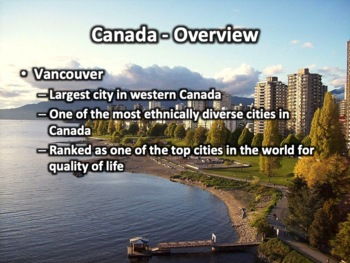 Canada Powerpoint - Geography, History, Government, Culture, Economy, and More