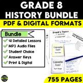 Grade 8 History Bundle Confederation, Western Settlement a