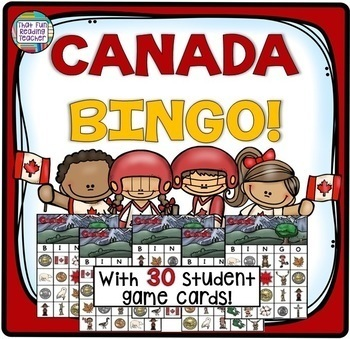 Canada resources for primary - literacy and BINGO!
