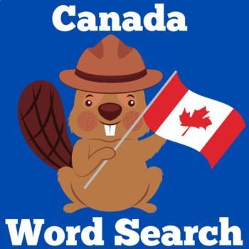 Canada Activity | Canada Symbols | Canada Word Search